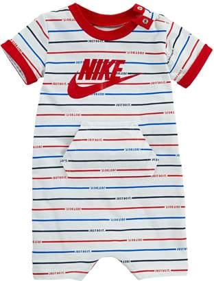 4e6932dd99 Nike Baby Boy Striped Logo Romper