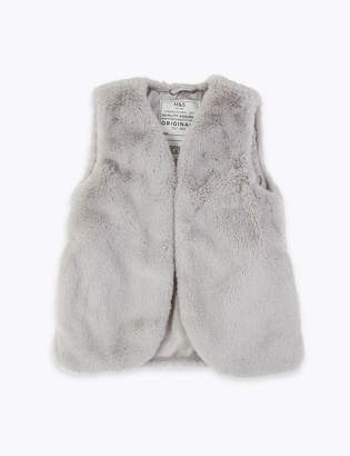 Marks and Spencer Faux Fur Gilet (3-16 Years)