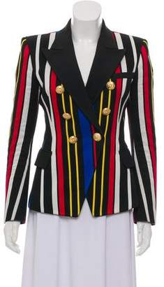 Balmain Striped Double-Breasted Blazer