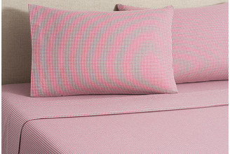 Belle Epoque Flannel Gingham Sheet Set - Red