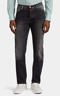 Kiton Men's Slim Selvedge Denim Jeans - Gray