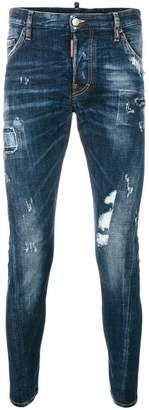 DSQUARED2 distressed Sexy Twist jeans