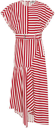 Rachel Comey Steady Belted Asymmetric Cotton Dress