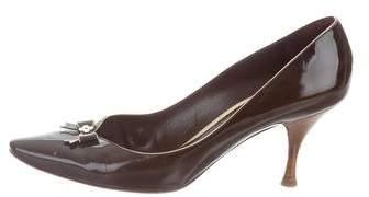 Louis Vuitton Patent Leather Bow Pumps
