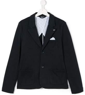 Emporio Armani Kids Teen chest pocket blazer