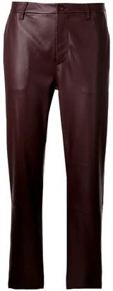 Closed cropped biker trousers