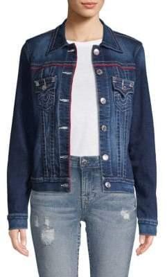 True Religion Button-Front Denim Jacket