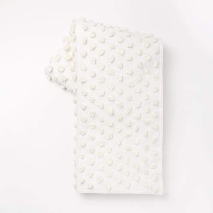 Candlewick End of Bed Blanket - Stone White
