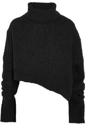 Ann Demeulemeester Asymmetric Wool-Blend Turtleneck Sweater