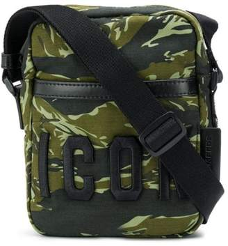 DSQUARED2 Icon camouflage print crossbody bag