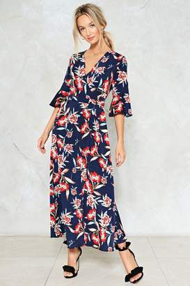 Nasty Gal Don't Let the Sun Catch You Crying Floral Dress