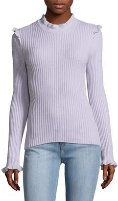 Derek Lam 10 Crosby Women's Ruffle Fitted Cashmere Sweater