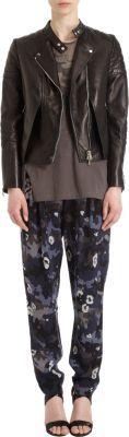 3.1 Phillip Lim Pleated Camo Print Pants