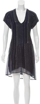 Zadig & Voltaire Stripped Metallic Dress