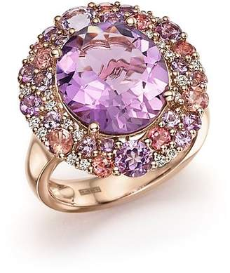 Bloomingdale's Purple Amethyst, Pink Amethyst, Pink Tourmaline and Diamond Cocktail Ring in 14K Rose Gold - 100% Exclusive