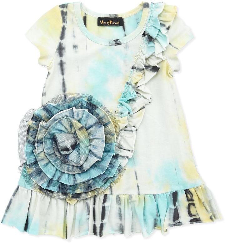 Hannah Banana Tie-Dye Floral Tunic, 4-6X