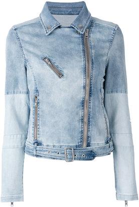 Diesel denim biker jacket $377.20 thestylecure.com