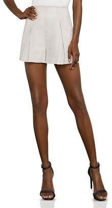 BCBGMAXAZRIA Stripe Pleated Shorts