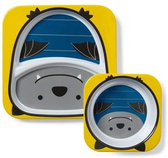 Skip Hop Zoo Bat Melamine Plate & Bowl Set
