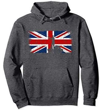 British Flag Fishing Hoodie Vintage Union Jack Sweatshirt