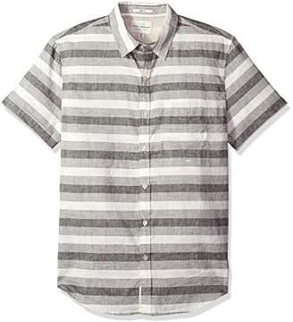 Lucky Brand Men's Casual Short Sleeve Stripe Ballona Button Down Shirt