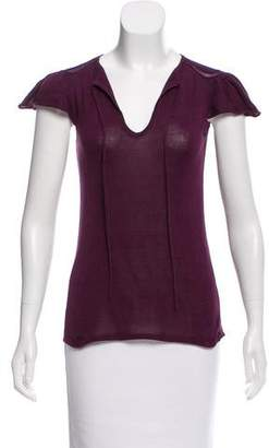 Leroy Veronique Silk Short Sleeve Top