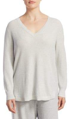 Joan Vass Plus V-Neck Sweater