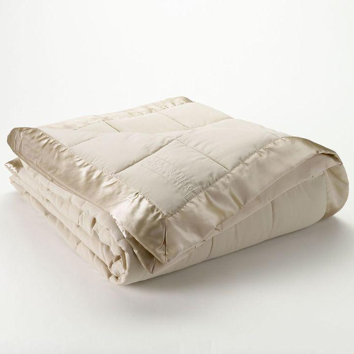 Laura Ashley lifestyles solid down-alternative blanket - twin