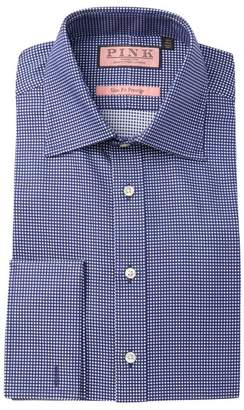 Thomas Pink Johnson Textured Slim Fit Dress Shirt