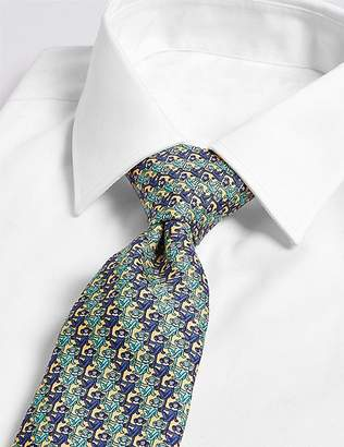 Marks and Spencer Pure Silk Monkey Print Tie
