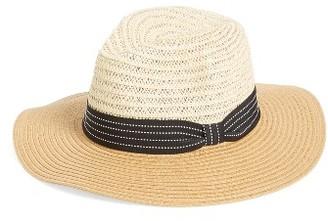 Women's Bp. Two Tone Straw Panama Hat - Beige $25 thestylecure.com