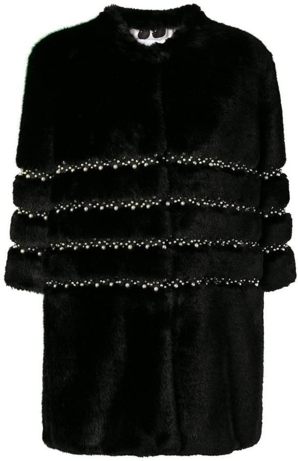 Ainea embellished faux fur jacket