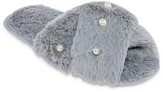Couture Pj Teddy Slide With Pearl Slip-On Slippers