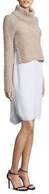 BCBGMAXAZRIABCBGMAXAZRIA Knit Sweater & Slip Twofer Dress