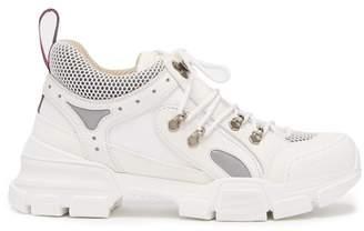 Gucci Flashtrek Leather Trainers - Womens - White