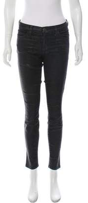 Current/Elliott Mid-Rise Textured Skinny Jeans