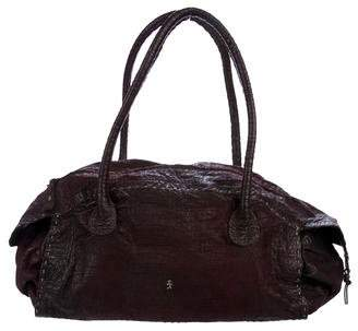 Henry Beguelin Embossed Leather Handle Bag