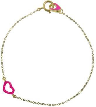 Jordan Askill Pink Glitter Heart Enamel Bracelet