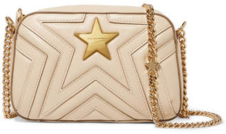 Stella McCartney Quilted Faux Leather Shoulder Bag - Cream