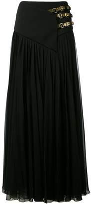 Lanvin belted maxi skirt