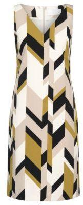 Hugo Boss Dephani Herringbone Print Sheath Dress 4 Patterned $595 thestylecure.com