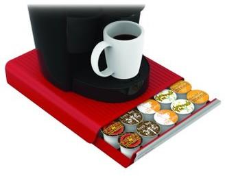 Mind Reader 30 Capacity K-Cup Single Serve Coffee Pod Storage Drawer Organizer- Red