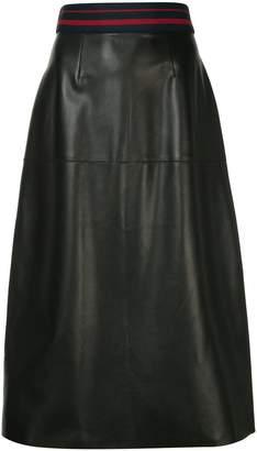 Inès & Marèchal sports rib waist midi skirt