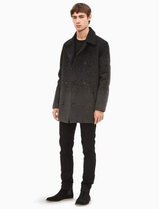 Calvin Klein ombre wool blend peacoat
