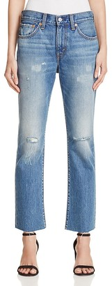 LEVI'S Crop Kick Flare Jeans in Palo Verde $148 thestylecure.com