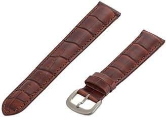 Momentum ZC-18CRG DK BROWN 18mm Croc Grain Leather Calfskin Brown Watch Strap