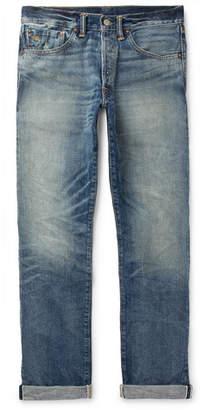RRL Distressed Selvedge Denim Jeans
