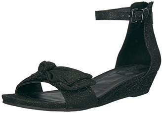 Kenneth Cole Reaction Women's Start Low Wedge Sandal Bow Detail Fabric