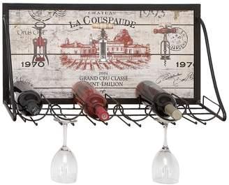 UMA Chateau Metal Wall Wine Rack