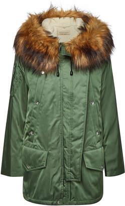 Burberry Lanfair Parka with Faux Fur